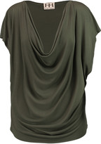 Haute Hippie Draped Modal top