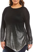 Vince Camuto Plus Foiled Ombre Sweater