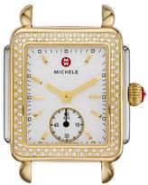Michele Women's Deco 16 Diamond Two-Tone Watch Head, 29Mm X 31Mm