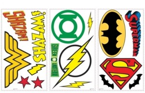 York Wall Coverings York Wallcoverings Dc Superhero Logos Peel and Stick Wall Decals
