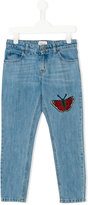 Gucci Kids - butterfly patch jeans - kids - Cotton - 4 yrs