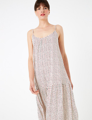 Marks and Spencer Printed Relaxed Midaxi Slip Dress