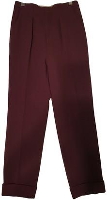 Roland Mouret Purple Wool Trousers for Women
