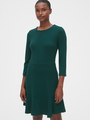 Gap Textured Fit and Flare Flutter Dress