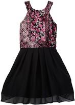 Trixxi Printed Velvet Dress (Big Girls)