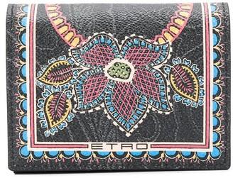 Etro Floral-Print Billfold Wallet