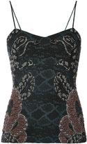 Yigal Azrouel woven serpent jacquard top - women - Polyamide/Polyester/Cupro - 2