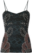 Yigal Azrouel woven serpent jacquard top - women - Polyamide/Polyester/Cupro - 8