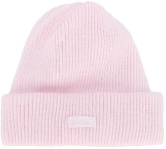 Absorba Logo-Patch Ribbed Beanie Hat