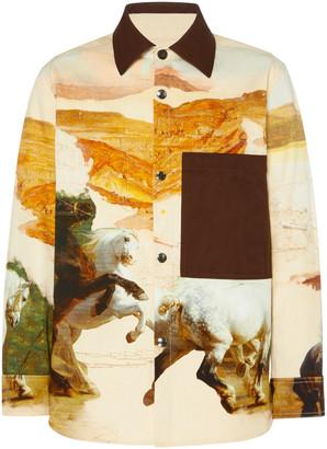 Acne Studios Horse-Print Cotton Shirt Jacket