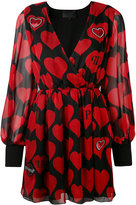 Philipp Plein heart print dress - women - Silk/Polyester/Spandex/Elastane/Viscose - S