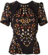 Alexander McQueen 'Obsession' blouse - women - Silk/Cotton/Viscose - 38
