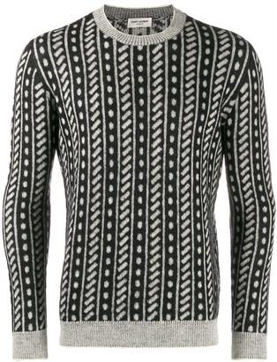 Saint Laurent Trompe Loeil Stripe Sweater