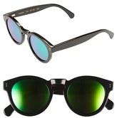 Illesteva Women's 'Leonard' 47Mm Sunglasses - Amber Tortoise/ Pink Mirror