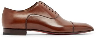 Christian Louboutin Greggo Leather Oxford Shoes - Brown