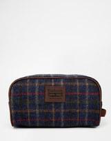 Barbour Tweed Wash Bag - Blue