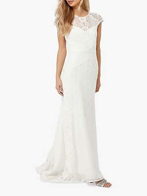 Monsoon Meghan Geo Lace Maxi Wedding Dress, Ivory