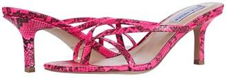 Steve Madden Lolla Heeled Sandal (Beige Snake) Women's Shoes