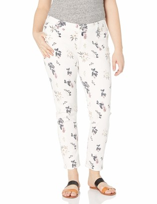 Lucky Brand Women's Plus Size Mid Rise Ginger Skinny Jean in Botanical Toss 18W