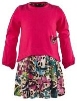 Roberto Cavalli Jersey Dress With Butterfly Print Skirt