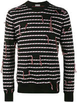 Christian Dior frayed stripe sweater