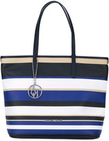 Armani Jeans striped shopper tote - women - Polyurethane/Polyester/PVC/Viscose - One Size