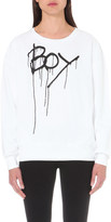Boy London Drip-effect logo print cotton sweatshirt