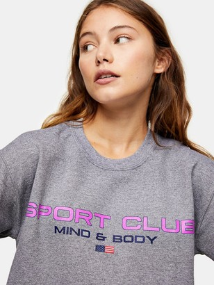 Topshop Sports Club Sweatshirt - Grey