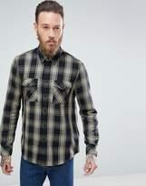 Nudie Jeans Co Sten Regular Fit Block Check Shirt