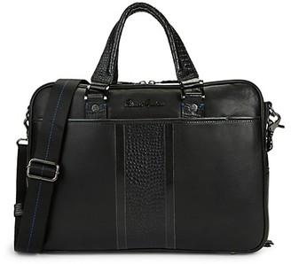 Robert Graham Keaton Croc-Embossed Leather Briefcase
