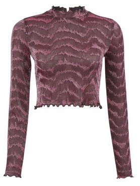Dorothy Perkins Womens Lola Skye Pink Glitter High Neck Top, Pink