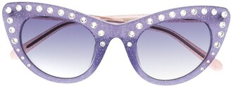 No.21 Crystal-Embellished Cat-Eye Sunglasses