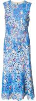 Monique Lhuillier embroidered flowers dress - women - Nylon/Silk/Polyester - 2