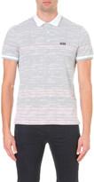 HUGO BOSS Stripe print cotton polo shirt