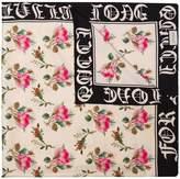 Gucci rose print scarf