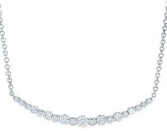 Kwiat Lyric 18K White Gold & Diamond Bar Pendant Necklace
