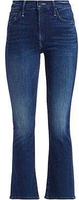 Mother The Insider High-Rise Ankle Kick Flare Jeans