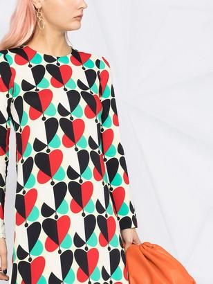 La DoubleJ Heart-Print Swing Dress