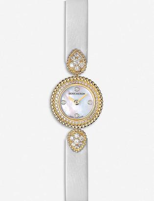 Boucheron Serpent Boheme 18ct yellow-gold, diamond and mother-of-pearl watch
