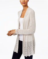 Style&Co. Style & Co Open-Front Pointelle-Knit Cardigan, Only at Macy's