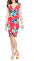 Lauren Ralph Lauren Floral Surplice Jersey Dress