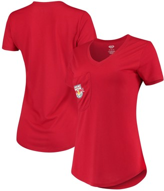 New York Red Bulls Concepts Sport Women's Unwind Pocket V-Neck T-Shirt - Red