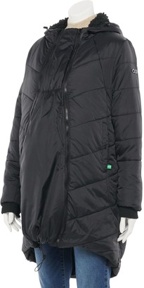 Modern Eternity Maternity 3-in-1 Mid-Thigh Cocoon Puffer Coat