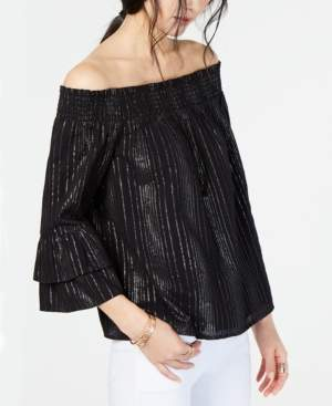 INC International Concepts I.n.c. Shine Off-The-Shoulder Top, Created for Macy's