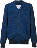 Sacai intarsia woven cardigan - men - Cotton/Linen/Flax/Acrylic/Nylon - 1