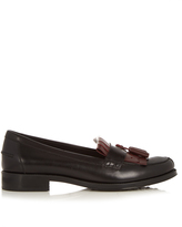 Tod's Gomma bi-colour fringed loafers