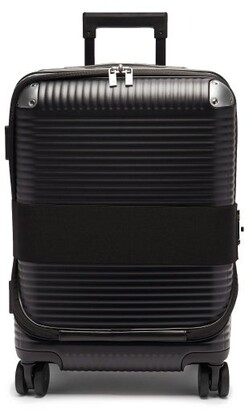 Fabbrica Pelletterie Milano Bank Zip Spinner 53 Cabin Suitcase - Black