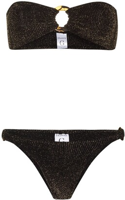 Hunza G Bandeau-Style Lurex Bikini