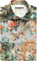 Etro Leopard-motif paisley slim-fit cotton shirt
