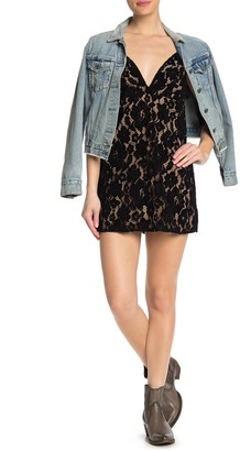 Free People Dangerous Love Lace Mini Dress